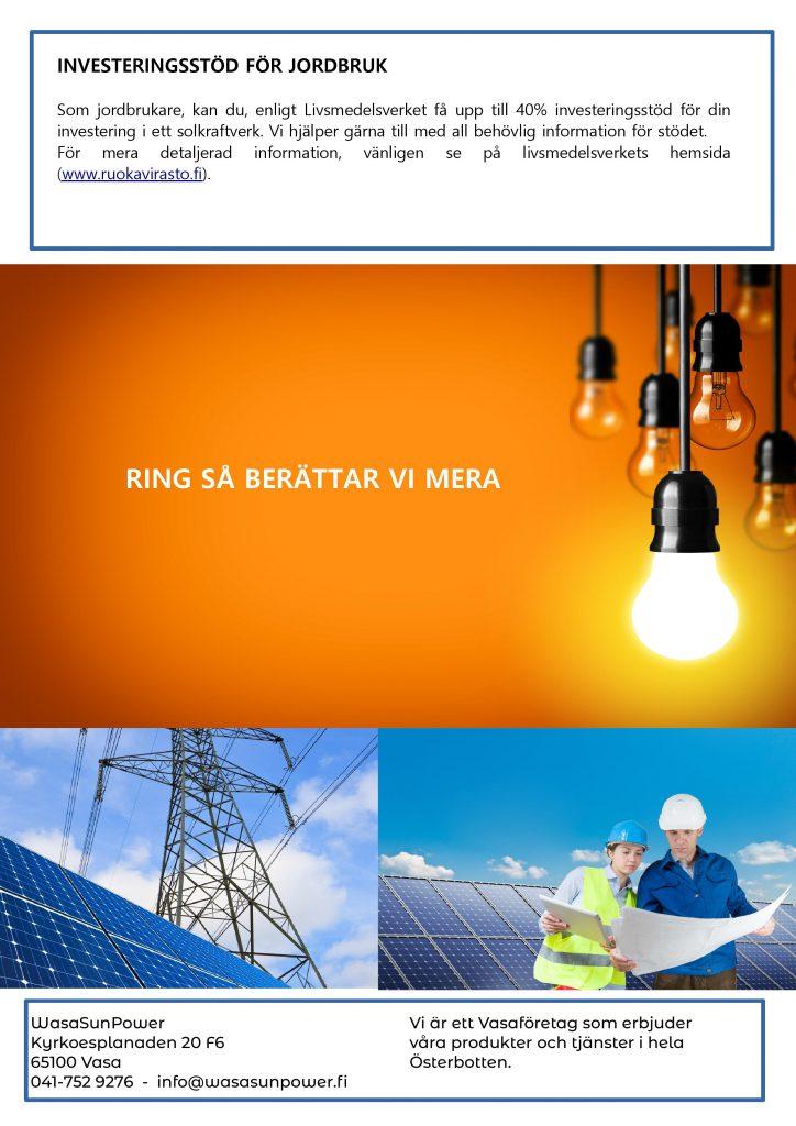 solpaneler för jordbruk